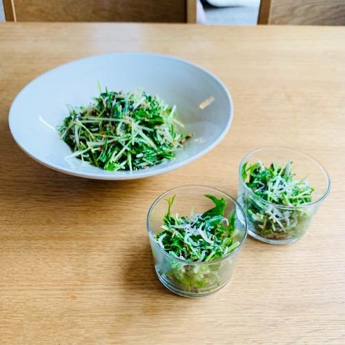 今月のひとさら vol.2_〔水菜とじゃこのサラダ〕